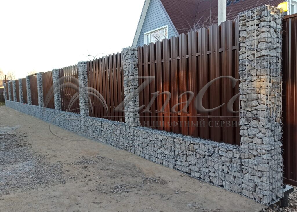 Забор из габионов ЗнаКо