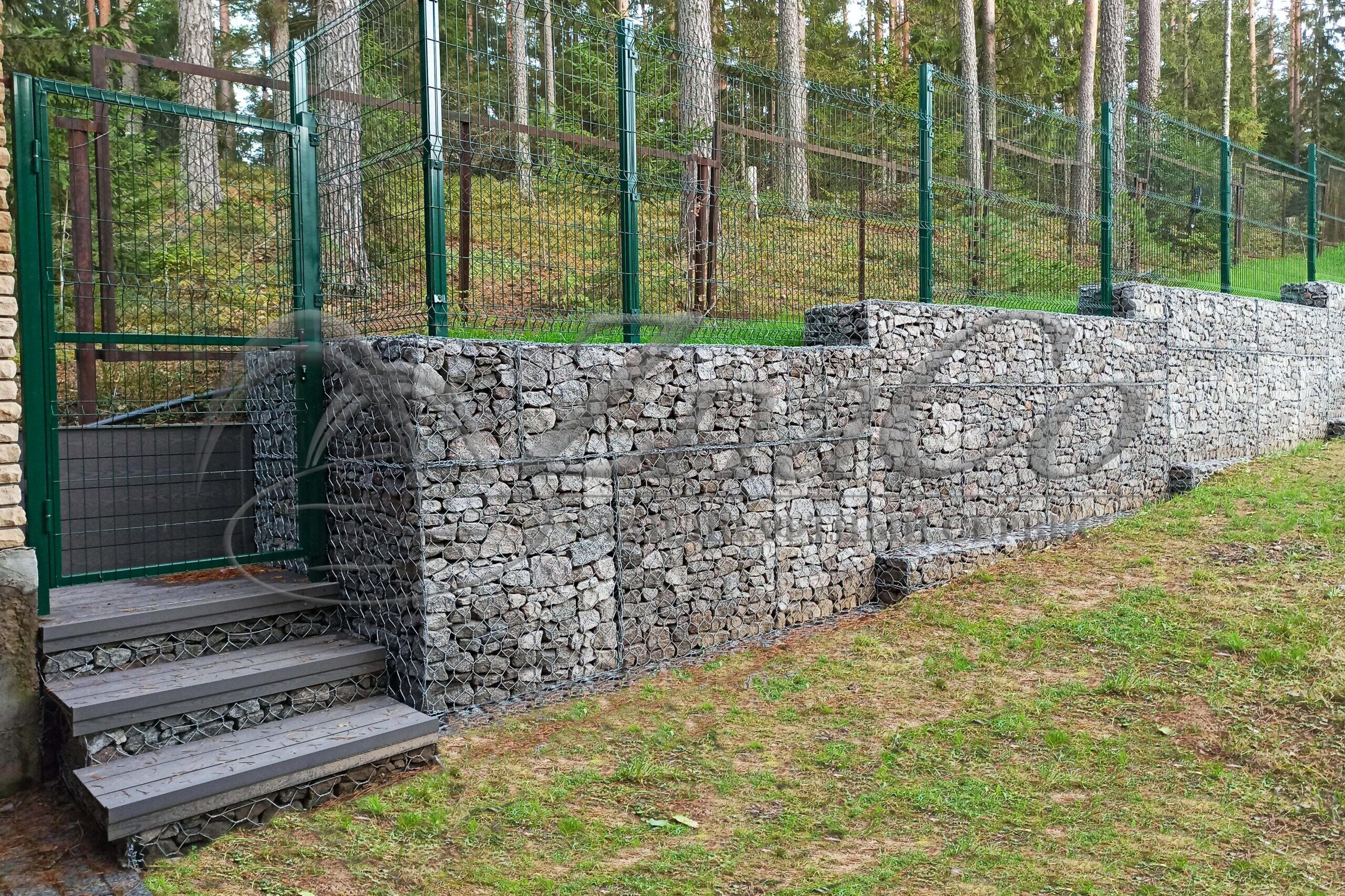 Подпорная стена из габионов ЗнаКо
